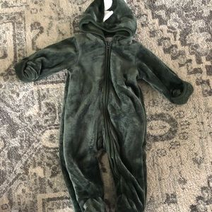 Dinosaur onesie with hood